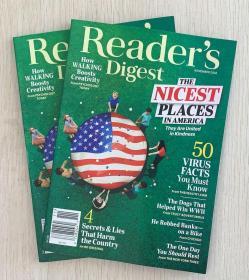 美国版 READER'S DIGEST 读者文摘2020年11月 英文生活类杂志