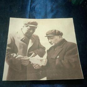 毛泽东与邓小平 照片剪报
