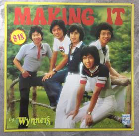 明星彩页 the Wynners 温拿(谭咏麟钟镇涛)最受欢迎歌曲纪念专集(1975年)宝丽金黑胶唱片彩页一张 港版