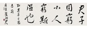 湖南书协副主席崔向君行书横幅一帧