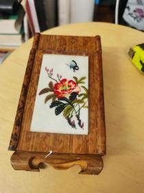 手绘竹茶叶盒