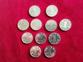 兰花1角,2005—2018,共11枚合售
