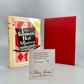 【限量签名本】奎因《罗马帽子之迷》埃勒里·奎因亲笔签名本 限量编号仅250册 1979年《罗马帽子之迷》发表五十周年特别纪念版 品相也不错 稀缺少见! Ellery Queen【国内现货】侦探 推理 阿加莎