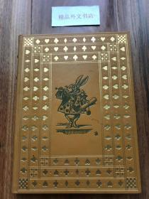 近全新!【现货在美国家中、2周左右到国内、全国包顺丰】《爱丽丝漫游奇境记》,Lewis Carroll /刘易斯·卡罗尔(著),富兰克林图书馆出版的世界永恒经典100本名著系列丛书之一, 1975年限量版 A Limited Edition(请见实物拍摄照片第4张出版页),精装,161页,豪华全真皮封面,三面刷金,珍贵外国文学资料!本店第2本!