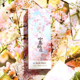 十里桃花 古风 书签 30张/盒 中国风古典精美诗词手绘纸质空白卡片唯美