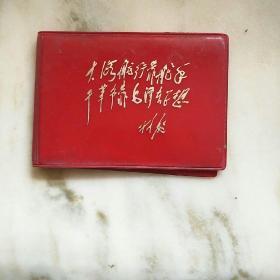 红塑壳一个,带烫金林彪题词