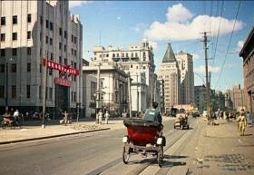 前苏联记者1950年拍照的上海老彩色照片19张5吋的hw