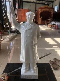 文革时期,毛主席招手站像一尊,全品,尺寸如图
