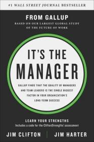 这就是管理人 英文原版 Its the Manager Gallup Jim Clifton-