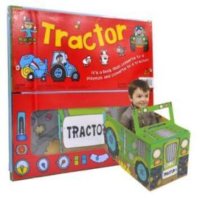 Convertible Tractor 变形挖土机 拖拉机 纸板组装创意玩具书 儿童游戏-