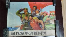 宣传画:民兵军事训练挂图   北京军区司令部编印   1972年    4开    XCH0077