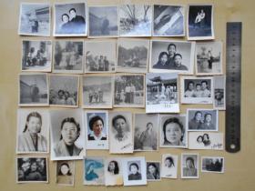 老照片【50—70年代,美女照片,36张】有大辫子
