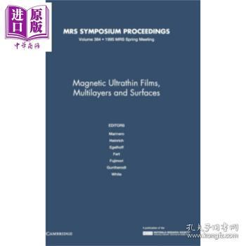 MagneticUltrathinFilmsMultilayersandSurfaces