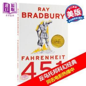 华氏451度 英文原版Fahrenheit 451 Ray Bradbury反乌托邦科幻小说经典-