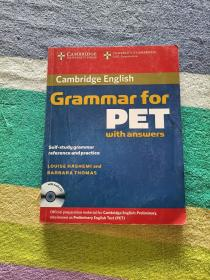 Cambridge Grammar for PET Book with Answers and Audio CD(附光盘)