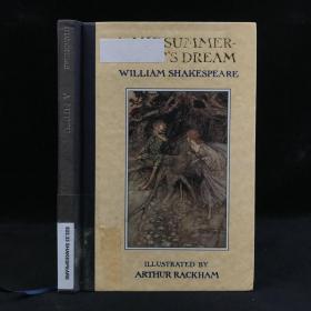 1990年,莎士比亚喜剧《仲夏夜之梦》,数十幅拉克姆绘插图,部分为彩色,精装,A Midsummer Night's Dream by William Shakespeare
