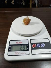 旧藏 田石带皮雕古兽钮小精品随型印(29克)