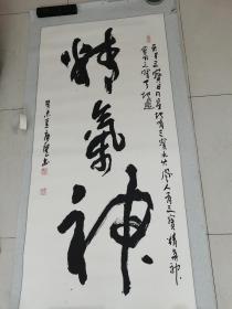 北京书法家协会理事北京著名书法家唐龙作品原装托片8平尺保真
