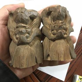 清代木雕蝙蝠1对