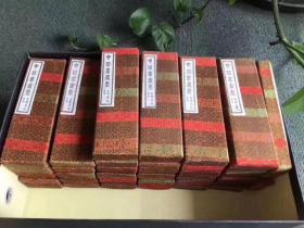 九十年代上海墨厂出品二两铁斋翁墨一批,锦盒包装,品相一流非常好,单盒价格 480元