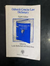 Osborn's Concise Law Dictionary(8th Edition,英文原版)