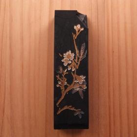 铁斋翁书画宝墨上海墨厂1979年油烟101二两66克老墨锭残墨N896