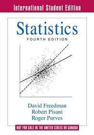 现货 Statistics 英文原版 统计学 (美)(D.弗里德曼)David FreedmanDavid Freedman  , Robert Pisani , Roger Purves