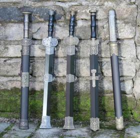 龙泉百兵堂不锈钢刀剑防身小短剑 镇宅宝剑汉剑风云小剑未开刃(碳钢)尺寸以实物为准