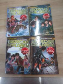 英文书:THE  BOXCAR  CHILDREN :《THE  YEIIOW  HOUSE  MYSTERY》《MYSTERY  RANCH》《SURPRISE  ISIAND》《THE  BOXCAR  CHIIDREN》 4本合售 附光盘一张 详见图片