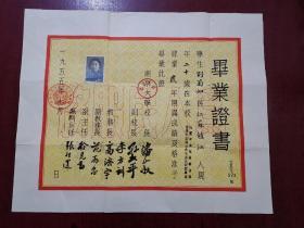 南京大学毕业证1955