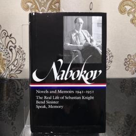 Vladimir Nabokov: Novels & Memoirs 1941–1951 Library of America 美国文库 英文原版 美国作家最权威版本 当今装帧典范 布面封皮琐线装订 丝带标记 圣经无酸纸薄而不透保存几个世纪不泛黄