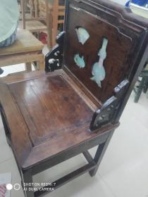 清代苏工大红酸枝木椅  高88面50.40.工艺精良小修过。