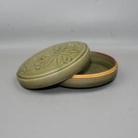 耀州窑刻花印泥盒粉盒