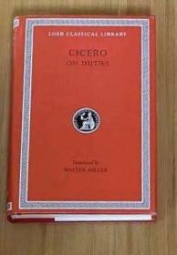 [包邮•英文拉丁文对照] 西塞罗《论义务》(洛布丛书)On Duties / De Officiis (Loeb)