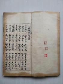 风水地理古籍手抄本熊醒谷记《地理指蒙》(售黑白影印手工线装书)