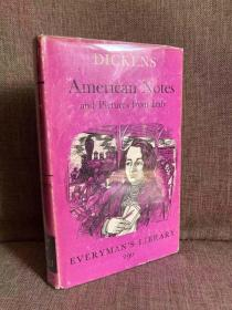 American Notes and Pictures from Italy(查尔斯·狄更斯《游美札记/意大利风光》,G.K.Chesterton导读,布面精装带护封,1970年老版本人人文库)