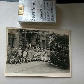 老照片,〈志愿军回国〉,一九五三年八月于绥芬河营部留影纪念