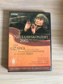 2002年维也纳新年音乐会DVD盒装收藏 小泽征尔指挥、维也纳爱演奏,盒装