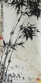 山东老画家杜沂墨竹图