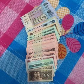 第四套人民币 100元16张(有11张连号,2张连号,3张连号)品相极佳,个人藏品,未流通/共计1807.8元(收藏价值极高)
