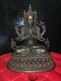 老铜佛像清代佛像铜器观音菩萨像