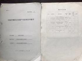 《武当太乙拳》申报市级非物质文化遗产名录资料