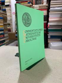 COMMENTATONES MATHMATICAE UNIVERSITATIS CAROLINAE