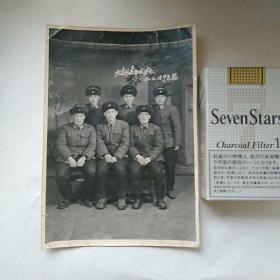 老照片,军人合影,1962年,欢送战友留念