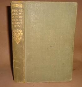 1934年 Prose & Poetry by Heinrich Heine 《海涅诗歌散文集》人人经典初版本 配补插图 布面精装