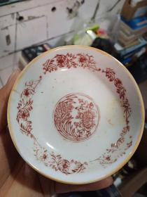 小瓷碟,共六个,年代60到70年代。标的是一个的价格。