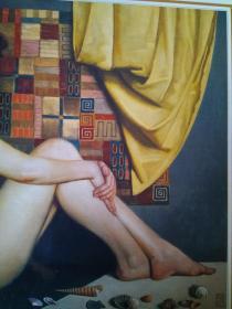 名家油画、装饰画  海的女儿  夹片覆膜