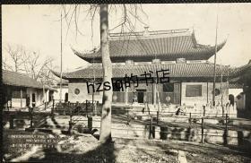 【影像资料】民国苏州名胜建筑明信片_苏州西园大雄宝殿及周边景象,画面清晰、少见难得