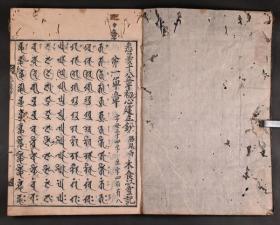 和刻本《悉昙十八章初心建立钞》2册,悉昙学梵文学真言宗文献,宽文六年出版