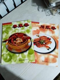 中国名菜经典《川菜卷》《粤菜卷》二册合售  彩图版  1998年一版一印